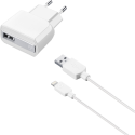 cellularline USB Charger Kit - Cavo del caricatore + Ricarica - Per iPhone - Bianco