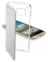 cellularline Clear Book - Für HTC One M9 - Silber