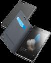 cellularline Book Essential Pocket - Schutztasche im Book-Style - Für Huawei P8 Lite - Schwarz