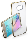 cellularline Clear Crystal - Für Samsung Galaxy S6 Edge - Gold