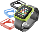 cellularline Bumper - Couvertures - Avec Apple Watch 38 mm - Noir/Bleu/Vert/Rouge