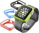 cellularline Bumper - Couvertures - Avec Apple Watch 42 mm - Noir/Bleu/Vert/Rouge