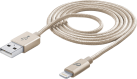 cellularline USB zu Lightning Datenkabel - Gold