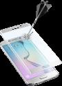 cellularline SECOND GLASS CURVED - Für Samsung Galaxy S6 Edge - Weiss