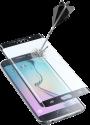 cellularline SECOND GLASS CURVED - Für Samsung Galaxy S6 Edge - Schwarz