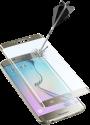 cellularline SECOND GLASS CURVED - Für Samsung Galaxy S6 Edge - Gold