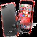 sbs Schlagfeste Schutzhülle - Für iPhone 8 Plus / 7 Plus - Rot/Transparent