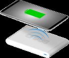 sbs Wireless Fast Charger - Chargeur de bureau sans câble - Avec fonction recharge rapide - Blanc