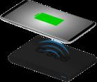 sbs Wireless Fast Charger - Chargeur de bureau sans câble - Avec fonction recharge rapide - Noir