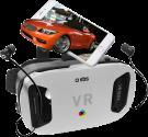 sbs Virtual Reality Viewer - Lunettes VR - Avec Casque In-Ear - Noir/Blanc