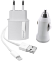Phonix All in One Lightning Car & Travel Charger Kit 3in1