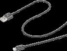celly USBLIGHTTEXBK - 1 m - noir