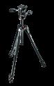 Manfrotto 290 XTRA Kit, Alu mit 3 Segmenten, 3-Wege-Neiger,schwarz
