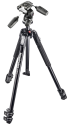 Manfrotto 190X trepied alu 3 Sections & Rotule 3D 804RC2, noir