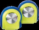 Nilox Drops - Bluetooth Kopfhörer - mit Mikrofon - blau/gelb