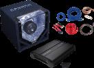 CRUNCH CPX750.1 - Komplett-Paket - 750 W - Schwarz