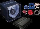 CRUNCH CPX700.2 - Komplett-Paket - 700 W - Schwarz