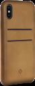 twelve south Relaxed Leather Hardcase - Étui en cuir avec compartiment pour cartes - Pour iPhone X - Brun