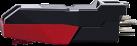 ion CZ-800-10 - Ersatz Tonabnehmersystem und Nadel - für Plattenspieler - Schwarz / Rot