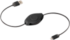 ReTrak Retractable Lightning Kabel, schwarz