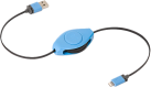 ReTrak Retractable Lightning Kabel, blau