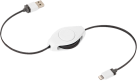 ReTrak Retractable Lightning Kabel, weiss