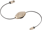 ReTrak Retractable Lightning Kabel, gold