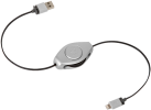 ReTrak Retractable Lightning Kabel, silber