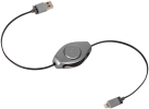 ReTrak Retractable Lightning Kabel, grau
