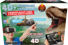 ReTrak 4D Dinosaure Experience - Utopia 360° VR Headset + 20 AR cartes - Distance de l'oeil - Noir