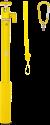 XSories Big U-Shot - Teleskopstange mit Handschlaufe - Gelb