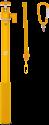 XSories Big U-Shot - Teleskopstange mit Handschlaufe - Gold