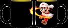 JUST FUNKY Super Mario Fireball - Thermo Becher - Wärme-Effekt - Schwarz