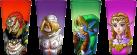 JUST FUNKY Zelda Gläser 4er Set - 473 ml