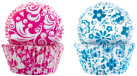 ibili IB-735906 Muffinsförmchen floral, blau / pink