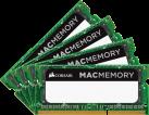CORSAIR Mac Memory - Arbeitsspeicher - 4x 8 GB (DDR3L SODIMM / 1866 MHz) - Schwarz/Grün