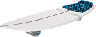 Razor Ripsurf Ripstik - Waveboard - Résistance: 100 kg - Blanc/Bleu