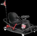 Razor Crazy Cart XL - Elektrischer Kinder-Kart - Max. 100 kg - Schwarz/Rot