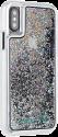 CASE-MATE Naked Tough Waterfall - Coque pour iPhone X - Avec effet globe de neige Iridescent  - Transparent/Couleurs arc-en-ciel