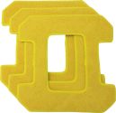 HOBOT Microfaserpad zu HB 268 - Gelb