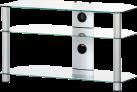 SONOROUS NEO390 - Meuble TV - Dimension d'écran conseillée : -37 - Verre clair/Argent