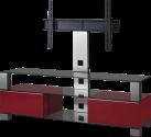 SONOROUS MD8143 - Meuble TV - Dimension d'écran conseillée : - 50 - Noir/Rouge