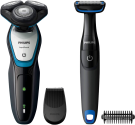 Philips S5070/92, Grau/Blau + GRATIS Philips Bodygroomer