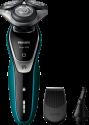 PHILIPS S5550/44 - Rasoio elettrico - AquaTec Wet & Dry - Nero/Turchese