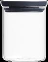 brabantia Stapelbarer Glasbehälter, 0.6 l, dunkelgrau