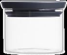 brabantia Barattolo di vetro, sovrapponibile, 0.3 l, grigio scuro