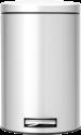 brabantia Mülleimer - 12 l - Metallic-grau