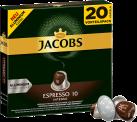 Jacobs Espresso 10 Intenso - Kaffeekapseln - 20Stk.