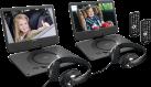 Lenco DVP-1039 - Dual-set tragbarer DVD-Spieler - 10 (25.5 cm) - schwarz