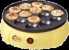 bestron DLD5009 - Poffertjes-Gerät - Für 14 Poffertjes - Gelb